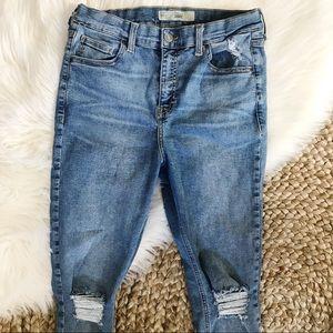 Topshop Moto Jamie Distressed Skinny Jeans